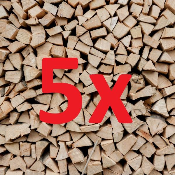 Brennholz Megapack 5 Ster Buche/Esche gemischt 33 cm, trocken
