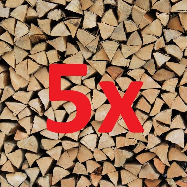 Brennholz  Megapack 5 Ster Buche 33 cm, trocken